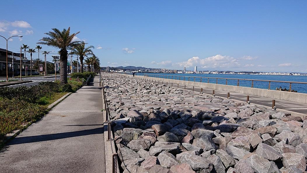 馬堀海岸地区高潮対策護岸